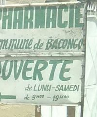 Pharmaçie commune de Bacongo